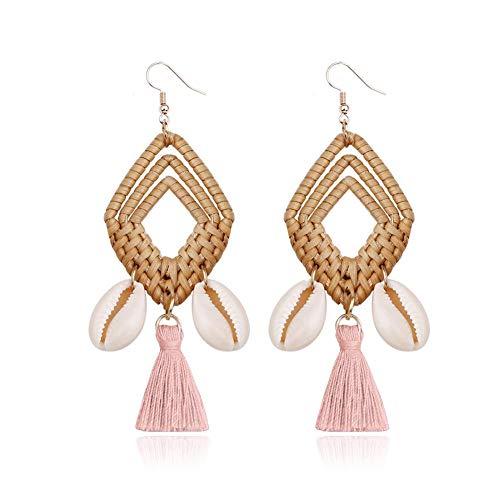 xiahe Pompom Earrings Pair Of Rattan Earrings Earrings Diamond Earrings Ladies Earrings Earrings For Wedding
