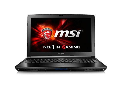 MSI GL62-6QFAC16H21 39,6 cm (15,6 Zoll) Laptop (Skylake Core i7-6700HQ/HM170, FHD, Geforce GTX 960M 2GB GDDR5, 16GB RAM, 256GB SSD,1000 GB HDD Win 10) schwarz