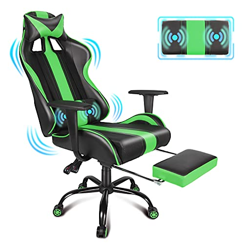 Massage Gaming Chair Racing Styl...