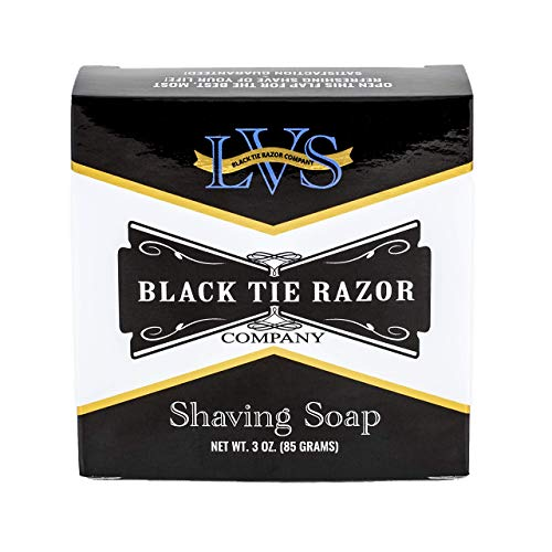 Black Tie Razor Company Luxury Shaving Soap LVS. Lavender Vanilla Sandalwood. Rich Lather Gives a Smooth Comfortable Shave. Mug Soap. For gentlemen and ladies - 3 ozs.