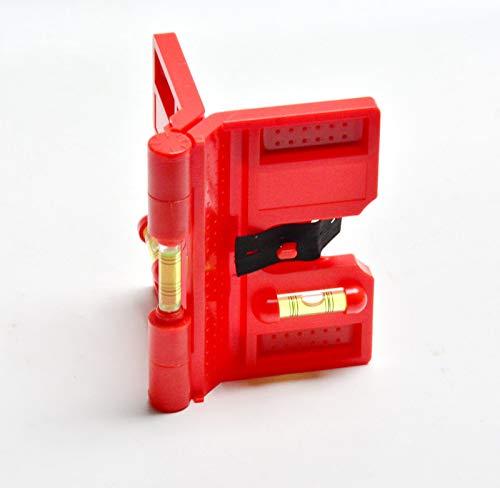 Zaun-Nagel Winkel-Wasserwaage Pfostenwaage 13 x 10 cm Richtwaage mit Magnet Zaunwaage Lot