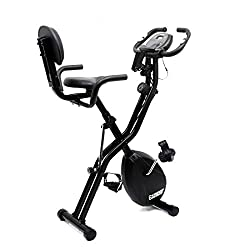 Fitkit FK700 Magnetic Upright Fitness X-Bike with Back Support with Free 3 Month Diet and Fitness Plan by Certified Dietitian, Personal Trainer, Doctor Consultation and Free Installation at Home