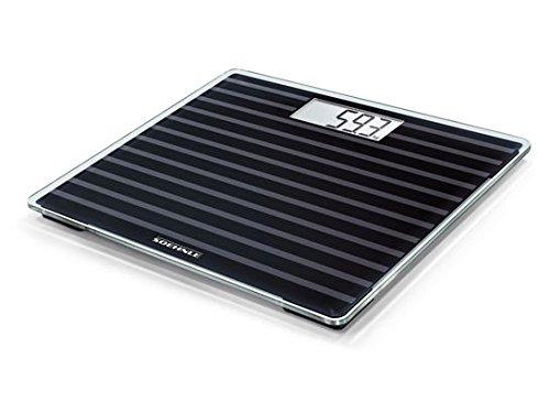 Soehnle Báscula Digital Style Sense Compact 200, Peso de Baño en Tamaño Compacto, Báscula Corporal con Pantalla LCD Fácil Legible, Báscula Plana, Negro
