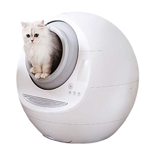 LANHA Automatico Autopulente Lettiera per Gatti, Pulitore Elettrico Toilette Intelligente per Gatti con Deodorante Facile da Pulire Riduce Il monitoraggio della lettiera