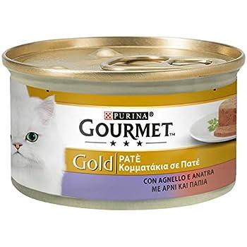 Purina Gourmet Gold Humide Chat Pâté avec Agneau et Canard, 24 boîtes de 85 g chacune, 24 x 85 g