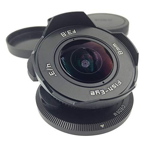Almencla Lente Ojo De Pez Ultra Ancha F / 3.8 De 8 Mm para Canon EOS M M2 M3 Cámara Sin Espejo