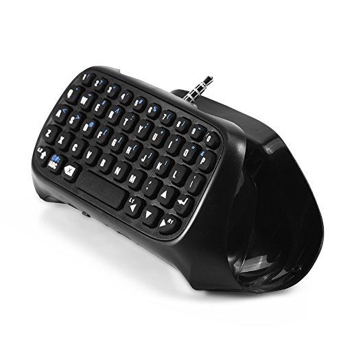 Mini Teclado Inalámbrico Bluetooth, Mini Teclado de Chatpad, Adaptador de Teclado Inalámbrico para Controlador PS4, Utilizado para Chatear con Amigos o Familiares de Forma Más Conveniente en Juegos