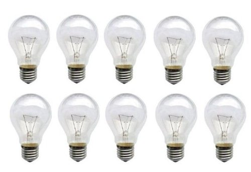 10 x Glühbirne 60W E27 Glühlampe Glühbirnen E 27 klar Qualitätsprodukt