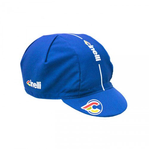 Cinelli Adultes Super Corsa Bonnet uni Bleu - Bleu