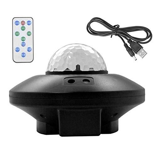 Aardich LED proyector de Estrellas del Cielo la Noche del proyector de luz de la lámpara Galaxy con Bluetooth Remote Control Agua de la Llama para Interior