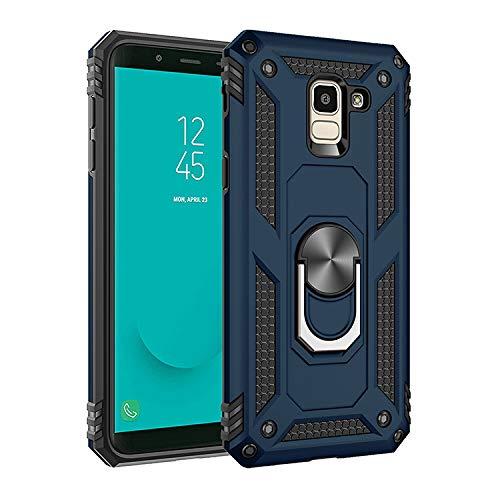 Funda para Samsung Galaxy On6 Carcasa,360 grados de soporte giratorio magnético Funda para Samsung SM-J600G/DS Galaxy J6 2018 / SM-J600GF/DS SM-J600FN/DS SM-J600FZ SM-J600F Funda Concha Case Blue