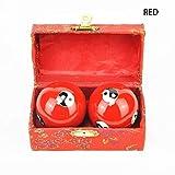 NOLOGO KUQIQI Kung Fu estrés Dedo de la Mano de Asistencia de Emergencia esferas Chinas Relajación Terapia Yin Yang Balones Rojo/Verde/Azul Herramienta de Masaje,Equipo de la Aptitud (Color : Rojo)