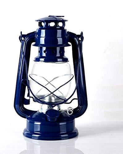 HoneyCare Lámpara de Linterna Que Quema Aceite, lámpara de Linterna de Aceite de Queroseno Tradicional, Tradicional y Tradicional, Linterna de keroseno Negra de Estilo Rural para la decoración