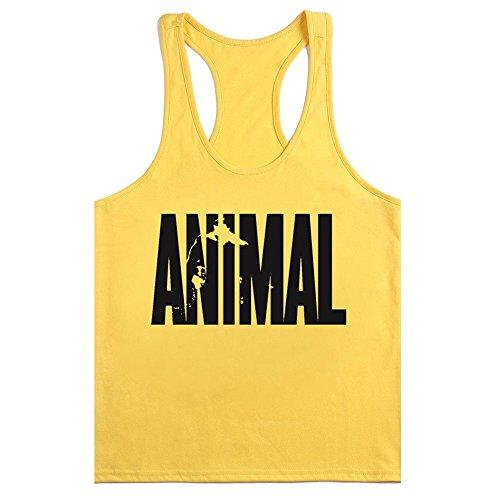 "Waylongplus, camiseta deportiva de tirantes para hombre con texto ""Animal"""