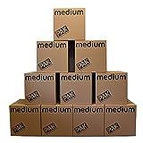 StorePAK Cajas de almacenamiento medianas de cartón con asas, 64 litros, 100% reciclables, 40,5 x 40,5 x 40,5 x 40,5 cm (paquete de 10), color marrón