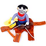 Lorytime Cowboy Rider Pet Costume Dogs Clothes Knight Style with Doll and Hat- for Halloween Day (M)