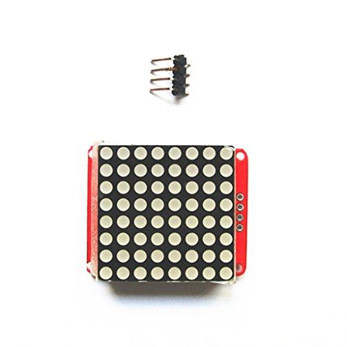 Milageto - Módulo de control de matriz de puntos, I2C, microprocesador, pantalla LED, 8 x 8 para