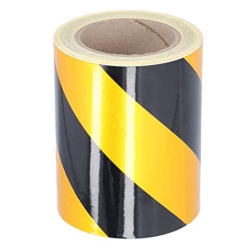 Duokon Cinta de Raya de Seguridad de Advertencia de Peligro Negra y Amarilla, Cinta de adherencia Fuerte Impermeable para vehículos, remolques, Barcos, letreros
