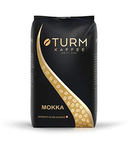 Turm Kaffee Mokka 1000g - kräftiger Kaffee für Schümli und Espresso aus dem Vollautomaten