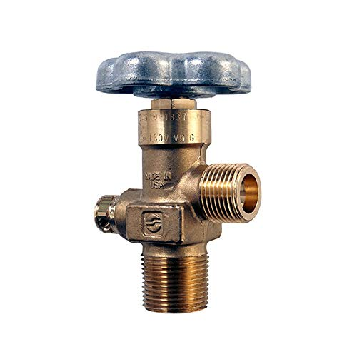 Sherwood CGA540 Oxygen Gas Cylinder Valve - 3/4' NGT, 3360 PSI