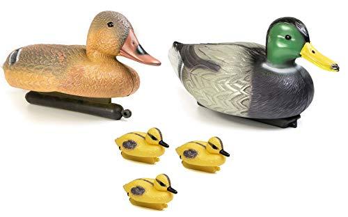 mgc24® Schwimmende Entenfamilie Happy Family für den Gartenteich - Gartendeko Tierfigur Teichfigur