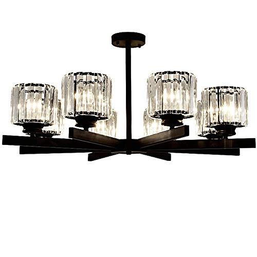 Candelabro de araña de cristal, magníficas lámparas de techo de estilo moderno, para interiores, E27, para cocina, isla, dormitorio, salón, restaurante, cafetería, decoración, 8 luces