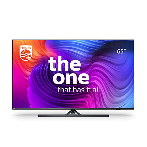 Philips 65PUS8546 65-Inch 4K Smart TV UHD LED Android TV with Ambilight, Vibrant HDR Picture, Cinematic Dolby Vision and Atmos Sound, Compatible with Google Assistance and Alexa, Anthracite Grey