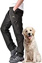 Toomett Men's Snow Pants Skiing Winter Insulated Soft Shell Outdoor Fleece Lined Hiking Pants with Zipper Pockets,MH4409,Army,40