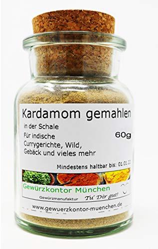 Kardamom Cardamom gemahlen 60g im Glas Gewürzkontor München