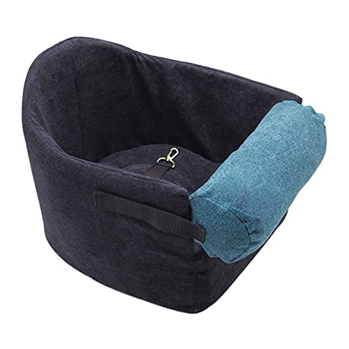 Baoblaze Asiento Elevador de Coche para Mascotas Perros pequeños medianos Gatos Portador Asiento de Coche Estable para Perros Silla de Seguridad Protectora - Negro