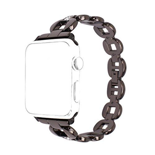 Armband für Apple Watch 38mm, Rosa Schleife iWatch Band Fashion Frauen Armband Diamant Uhrenarmband Kristall Wristband Apple Watch 3 Strap Ersatzband für Apple Watch Sports Edition 38MM Schwarz