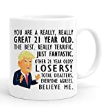 joey 21st Birthday Gift Trump Mug,11 Ounces, Funny Donald Trump Gag Coffee Mugs,1998 21 Year Old Birthday Gifts for Him, Friend, Dad, Brother, Husband, Grandpa, Coworker