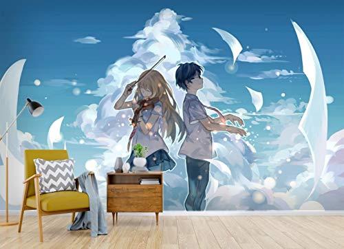 CXWLK Tu Mentira En Abril Mural De Papel Tapiz De Anime 3D Mural De Impresión Mural