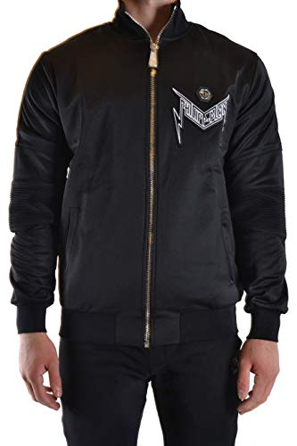 Philipp Plein Luxury Fashion Herren MJB1946PJO002N01 Schwarz Baumwolle Jacke | Frühling Sommer 20