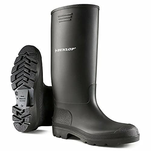 Unisex Gummistiefel Damen Herren Gummistiefel vollständig wasserdicht Schnee Regen Muck Outdoor Schlamm Schuhe Gummistiefel, Schwarz - Schwarz - Größe: 44 EU