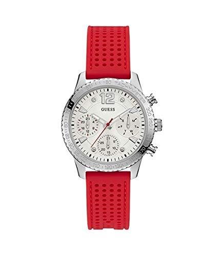 GUESS Reloj Analógico para Mujer de Cuarzo con Correa en Silicone W1025L2