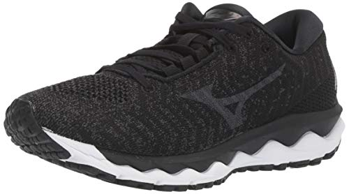 Mizuno Women's Wave Sky WAVEKNIT 3 Running Shoe, black, 9 B US