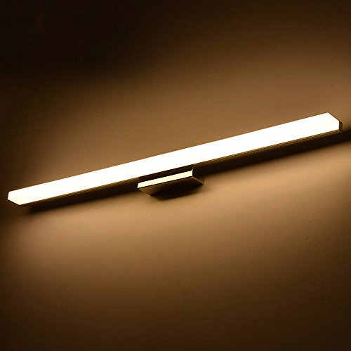 BoYX Acryl Spiegelleuchte 40Cm ~ 120Cm Moderne Kosmetische Acryl Wandleuchte Bad Beleuchtung Wasserdicht 85 ~ 265V,120Cm Warmweiß