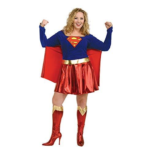 Secret Wishes Supergirl Costume, Red/Blue, S (2-6)