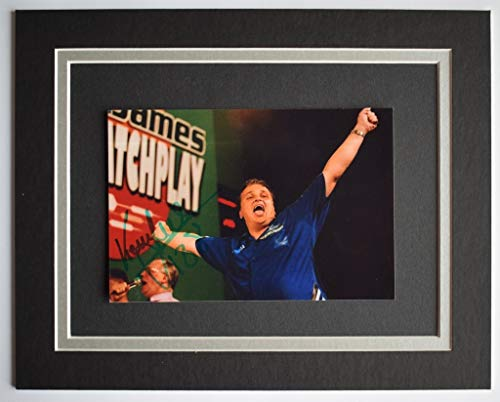 Keith Deller Signed Autograph 10x8 photo display Darts Sport AFTAL COA