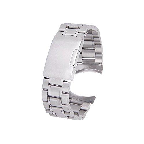 Toogoo (R), cinturino per orologio da polso in robusto acciaio inox con...