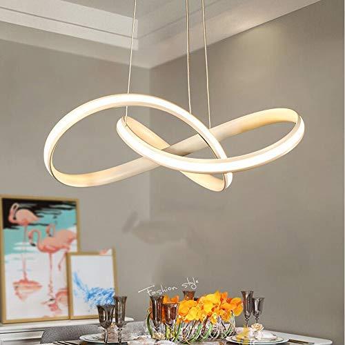 Der Durchmesser der Hand hundert Prozent Alurahmen 70CM Kronleuchter, LED-Deckenleuchte mit drei Pale Weiß, warmes Licht, natürliches Licht, Hängende Beleuchtung