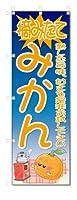 のぼり旗 摘みたて みかん(W600×H1800)