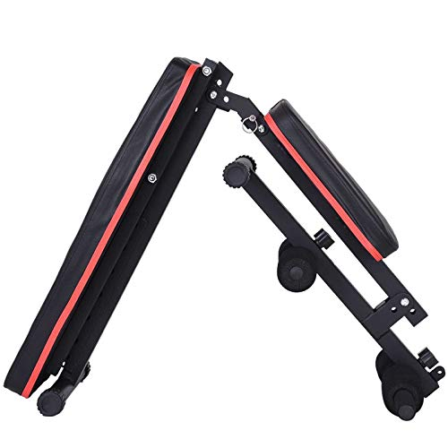 Adjustable Weight Bench w/ Fitness Rope - Foldable Sit Up Bench - Dumbbells Bench - Decline Incline Flat Abs Bench | Home Gym Flat Fly Weight Press Fitness - Utility Weight Bench for Full Body Workout