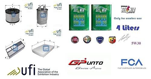 Kit filtri tagliando UFI + 4 Litri Selenia 5W30