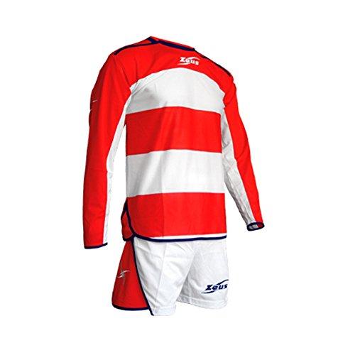 Zeus Completo Sportivo Franklin Bianco-Rosso-Blu Calcetto Zeus Scuola Sport Taglia XL