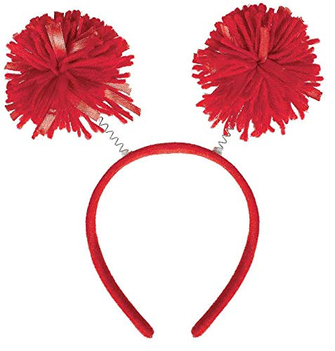 Amscan Pom Yarn Spings Head Bopper, 9' x 4 1/2', Red
