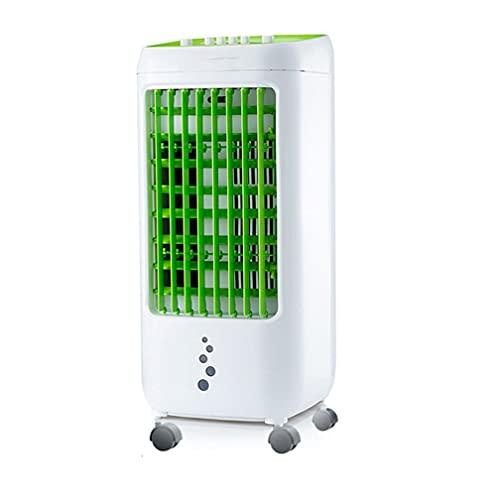 FOMT Enfriador De Aire Grande,Aire Acondicionado Climatizador Evaporativo 5 En 1 Enfría Ventilador Humidifica Ion Negativo Purificador 3 Modos con Ruedas Aire Acondicionado Portátil,Verde