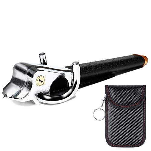 LUCK Steering Wheel Lock Car Relay Attack Steering Lock with Anti-theft Key Case Heavy Duty