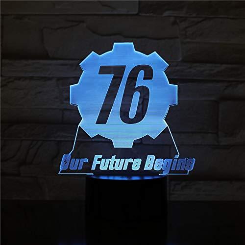 Fallout unsere Zukunft beginnt Weihnachten Nacht Licht 3D LED USB Tischlampe Kinder Geburtstagsgeschenk Nachtzimmer Dekoration